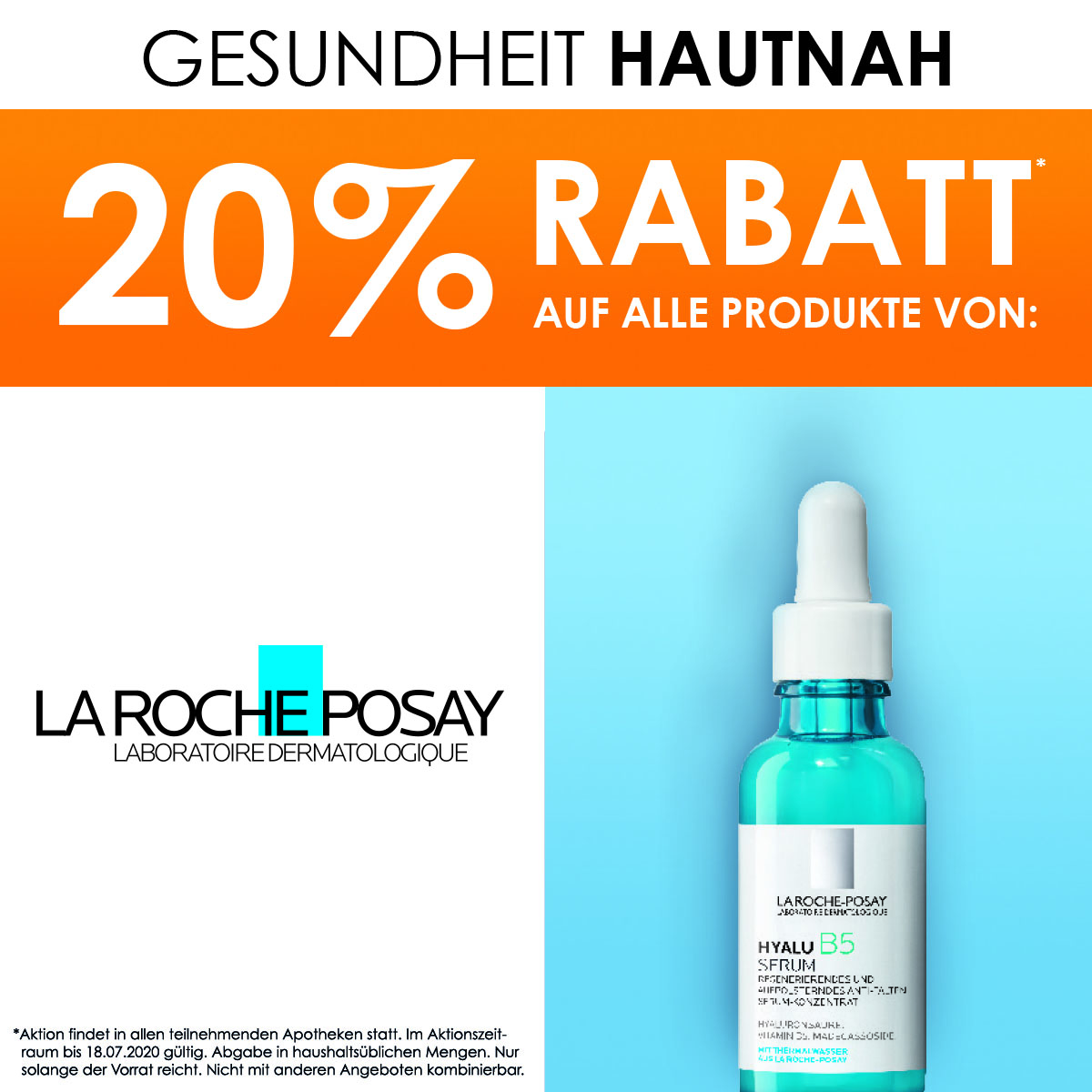 20% Rabatt auf LaRochePosay